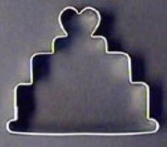 3-Tier Cake with Heart inch Cookie Cutter