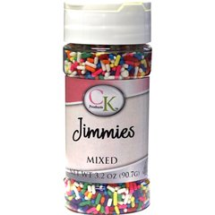 Mixed Rainbow Jimmies Sprinkles 3.2 oz