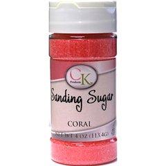 Coral Pink Sanding Sugar 4 oz