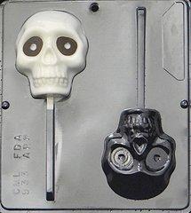 Skull Lollipop 2 Cavity Chocolate Craft Candy Mold
