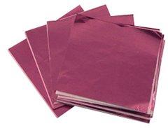 Pink 5x5 Candy Foil Squares 125 piece