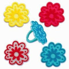 Blossom Flower Novelty Rings 12 Piece