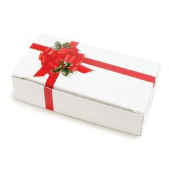 Ribbon 'n Holly Candy Box 1/2 lb 5-1/2 x 2-3/4 x 1-3/4 inch