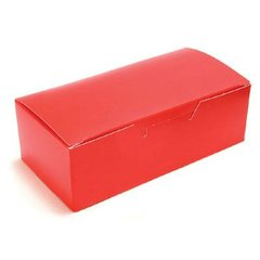 Candy Box Red 1 lb 7 x 3 3/8 x 2 inch