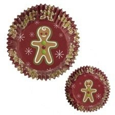 Gingerbread Boy Jolly Fun Standard Baking Cups