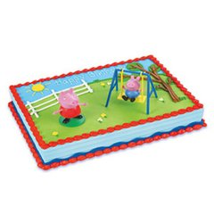 Peppa Pig Swing Set DecoSet Cake Kit