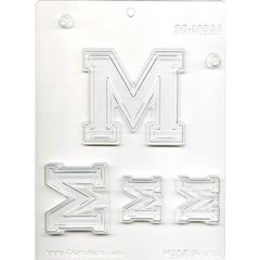 Collegiate Letter M Chocolate Craft Candy Mold