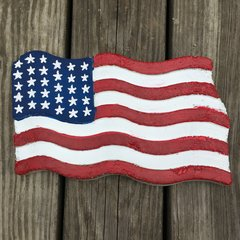 USA American Flag Concrete Stepping Stone
