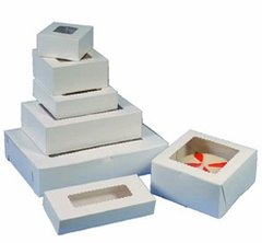 10x10x2.5 inch White Window Cake Box Each