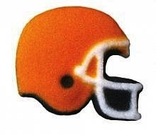 Football Helmet Sugar Decorations 16 piece
