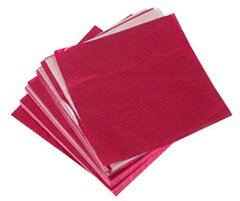 Red 4x4 Candy Foil Squares 125 piece