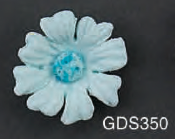 Daisy Blue Gumpaste Flowers 8 piece