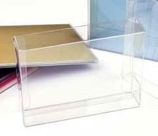 5 1/8x1x5 1/16 inch Clear Cake Cupcake Candy Box