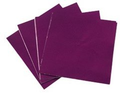 Purple 3x4 Candy Foil Squares 125 piece