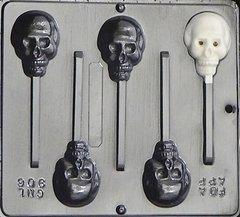 Skull Lollipop 5 Cavity Chocolate Craft Candy Mold