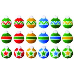 Christmas Ornaments Edible Sugar Decorations 18 Piece