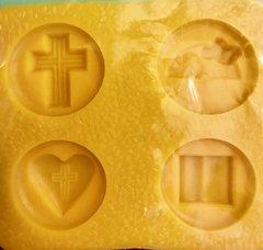 Religious Assortment Cross, Rainbow, Heart w/Cross, Bible Mint Candy Mold