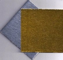 5x5 inch Silver Gold Reversible Cornish Cake Board Pad Each