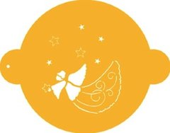 Angel with Stars Designer Cake Stencil