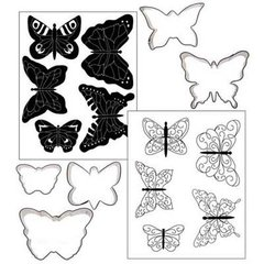 Butterflies Cookie Cutter Texture Set of 5