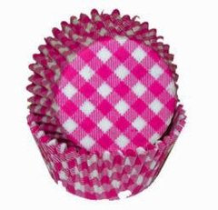 Hot Pink Gingham Mini Muffin Baking Cups 80-100 Piece