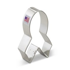 Breast Cancer Awareness Ribbon 4 inch Cookie Cutter