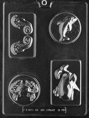 Sea Creatures 4 Cavity Chocolate Craft Candy Mold