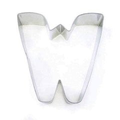 M or W Alphabet Letter Cookie Cutter 3 inch