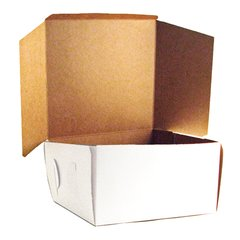 10x10x5.5 inch White Cake Box Each