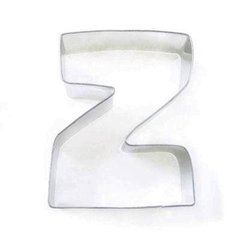 Z Alphabet Letter Cookie Cutter 3 inch