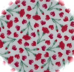Carnation and Hearts Chocolate Transfer Sheet 9 x 12 inch