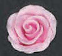 Pink Rose 3D 1.5 inch 6 Piece Edible Gumpaste Flower