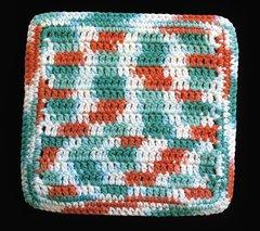100% Cotton Hand Crocheted Dishcloth Washcloth Rag Color: AHOY