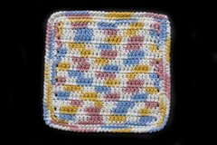 100% Cotton Hand Crocheted Dishcloth Washcloth Rag Color: KITCHEN BREEZE