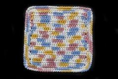 100% Cotton Hand Crocheted Dishcloth Washcloth Rag Color: KITCHEN BREEZE
