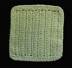 100% Cotton Hand Crocheted Dishcloth Washcloth Rag Color: SAGE