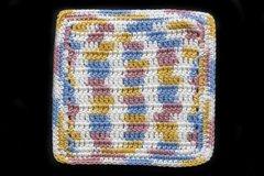 100% Cotton Hand Crocheted Square Pot Holder Hot Pad Doily Trivet Color: KITCHEN BREEZE