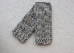 Fingerless Mitts Soft Grey