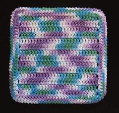 100% Cotton Hand Crocheted Dishcloth Washcloth Rag Color: BEACH BALL