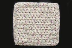 100% Cotton Hand Crocheted Square Pot Holder Hot Pad Doily Trivet Color: POTPOURRI