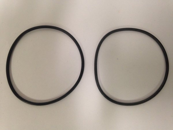 Lot of 10 Rubber O-Ring 2MM Thick 2 1/2 inch Diameter Made by Parco ...