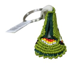 Beaded Moccasin Keychain
