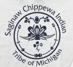 Saginaw Chippewa Indian Tribe Logo Tee White
