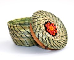 Sweetgrass Basket with Beads