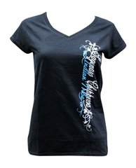 Ladies Fitted V-Neck SCIT Tee, Black