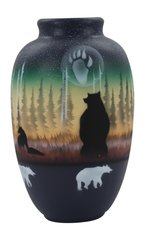 Ginger Jar Woodland Shadow Bear