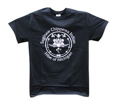 Saginaw Chippewa Indian Tribe Logo Tee Black