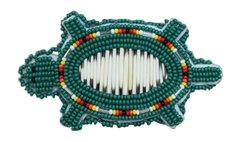 Bead & Quill Turtle Barrette Green