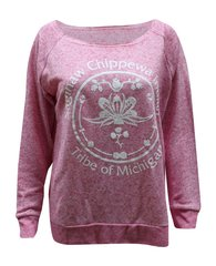 Ladies SCIT Logo Antique Pink Raglan Sweatshirt