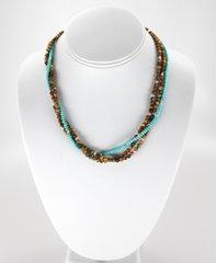 Jasper & Turquoise 3 Strand Necklace